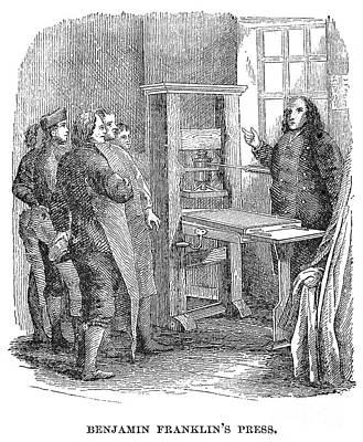 Benjamin Franklins Press Poster by Granger