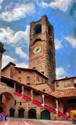 Bergamo Bell Tower Poster by Jeff Kolker