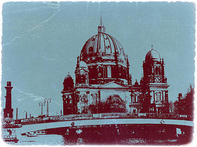 Berlin Cathedral Poster by Naxart Studio