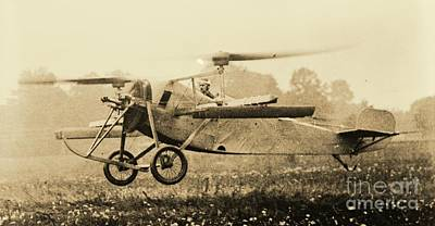 Berliner Helicopter At Take Off Poster by Padre Art