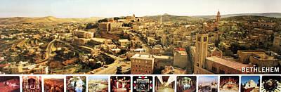 Bethlehem Panorama Poster by Munir Alawi