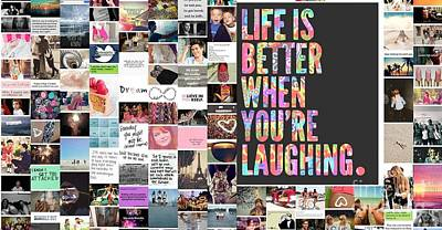 Better To Laugh Poster by Holley Jacobs