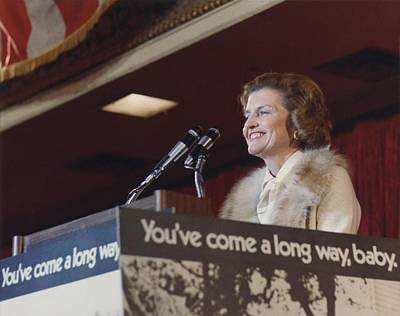 Betty Ford Speaks During A Candidates Poster