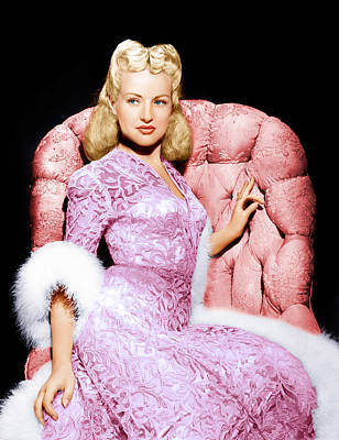 Betty Grable, Ca. 1940s Poster by Everett
