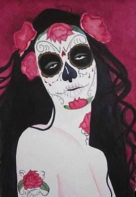 Bewitching Calavera Poster by Teresa Beyer