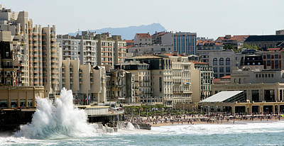 Biarritz Beach Poster by Cedric Darrigrand