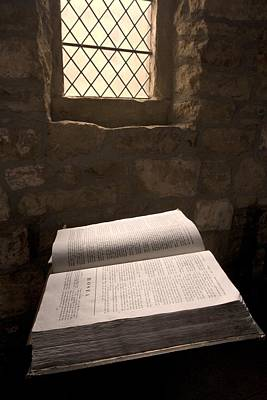 Bible In A Church, Rosedale, North Poster by John Short