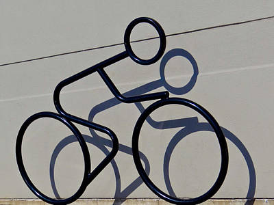 Bicycle Shadow Poster
