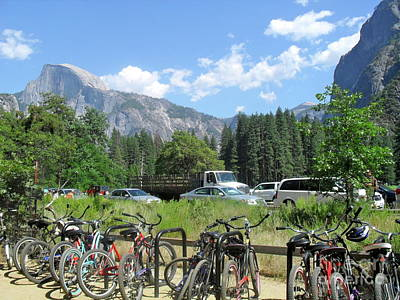 Bicycles Yosemite Poster by Beth Saffer