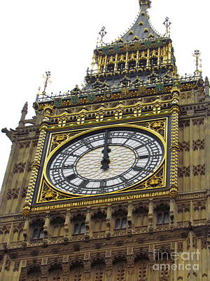 Poster featuring the photograph Big Ben High Noon by Beth Saffer