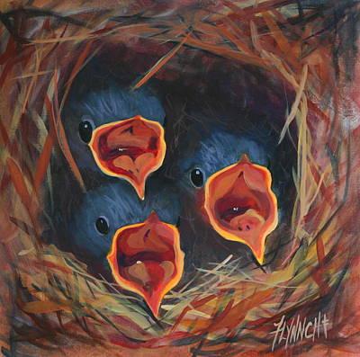 Big Mouth Babes Poster by Lynn Chatman