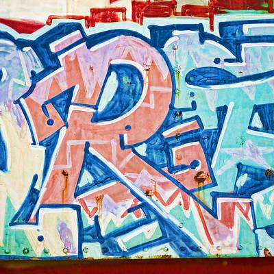 Big Orange R Poster by Carol Leigh