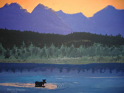 Poster featuring the painting Big Sky Country by Norm Starks
