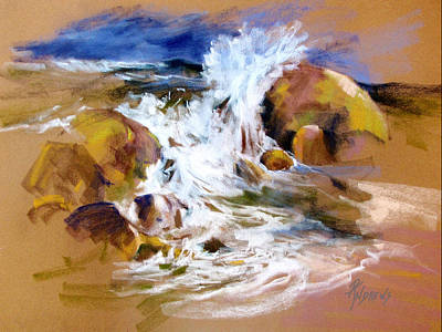 Poster featuring the painting Big Splash by Rae Andrews