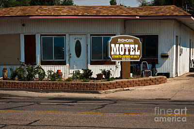 Bighorn Motel Poster by Lawrence Burry