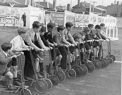 Bike Races Poster by Fox Photos