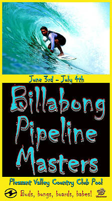 Billabong Pool Surfing Poster by Scott T