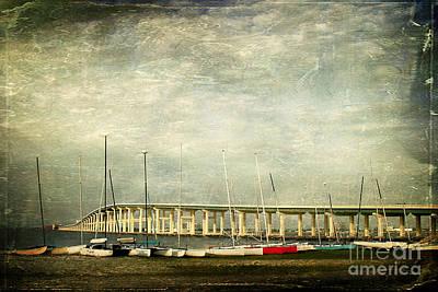 Biloxi Bay Bridge Poster