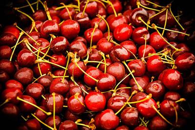 Bing Cherries Poster by Jen Morrison