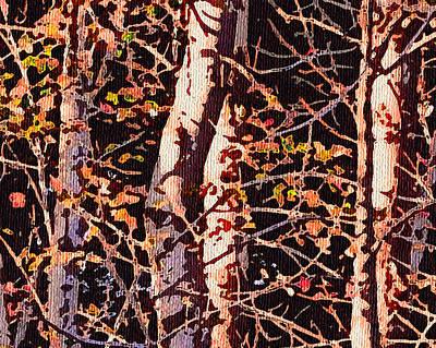 Birch Tapestry Poster