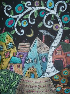 Birch Village Poster by Karla Gerard