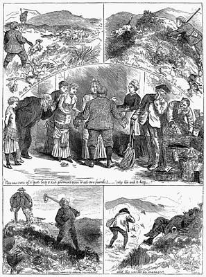 Bird Shooting, 1880 Poster