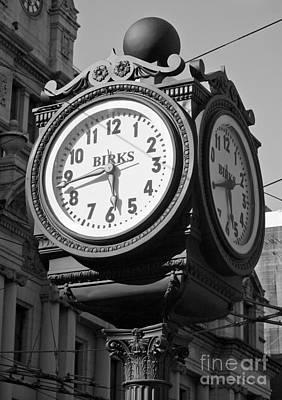 Birks Clock Poster
