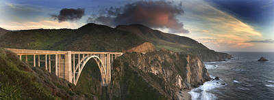 Bixby Bridge Sunset Poster