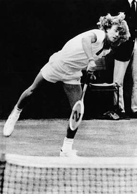 Bjorn Borg At Wimbledon, 1974 Poster