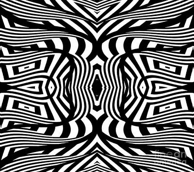Black And White Abstract Art No.322. Poster