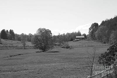 Poster featuring the photograph Black And White Country Fields by Michael Waters