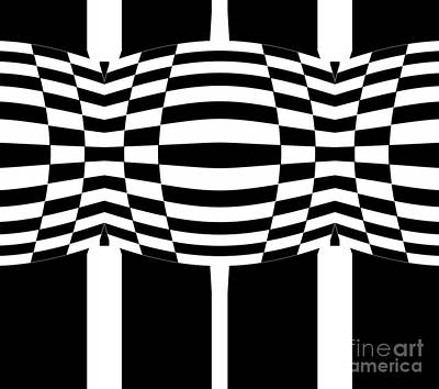 Black And White Geometric Abstract Art No.286. Poster