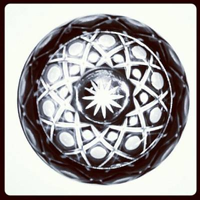 Black And White Glass Bowl. #glass Poster