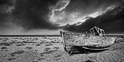 Black And White In Dungeness Poster