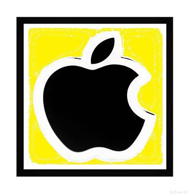 Black Apple With Yellow Poster by Rob Hans