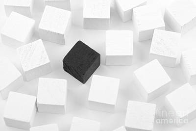Black Cube Lost In White Cube Poster by Simon Bratt Photography LRPS