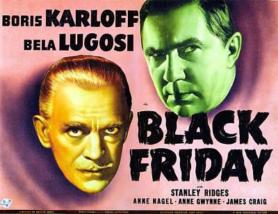 Black Friday, Left Boris Karloff Right Poster