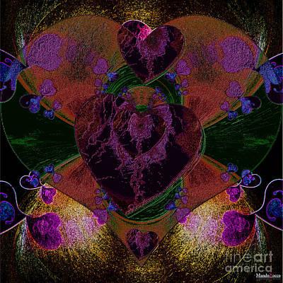 Black Heart Color Poster