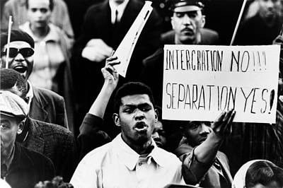 Black Muslim Counter-demonstration Poster by Everett