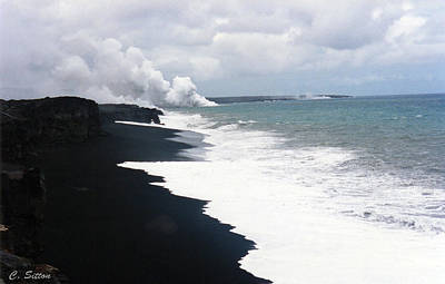 Poster featuring the photograph Black Sand Beach by C Sitton