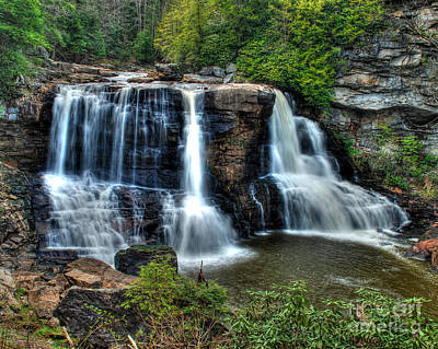 Poster featuring the photograph Black Water Falls by Mark Dodd