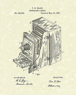 Blair Photographic Camera 1887 Patent Art Poster