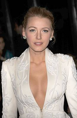 Blake Lively Wearing A Marchesa Jacket Poster