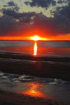 Blazing Sunset Poster by Ramona Johnston