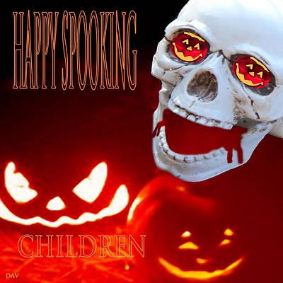 Bleeding Skull Poster by Debra     Vatalaro
