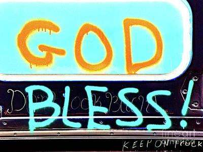 Bless You Poster by Joe Jake Pratt