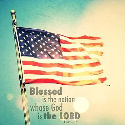 blessed Is The Nation Whose God Is Poster