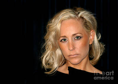 Blond Woman Poster by Henrik Lehnerer
