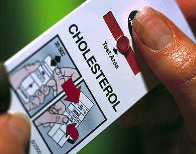 Blood Cholesterol Testing Poster