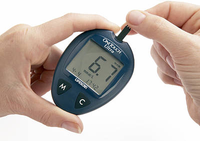 Blood Glucose Meter Poster by Mark Sykes